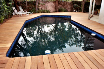 Ipe pool deck unstained, Brentwood.