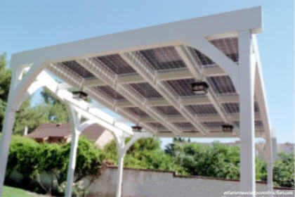 Integrated Solar Patio Structure