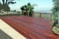 Ipe deck after sealing, 2009